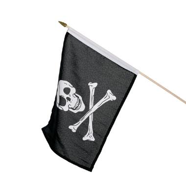 van vlag met materiaal