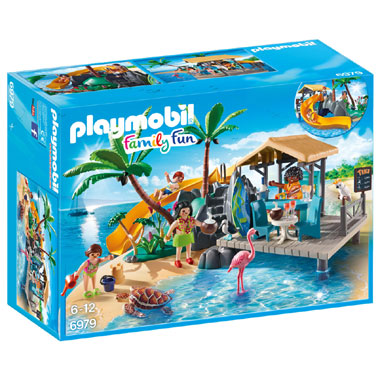 met vakantie strandbar