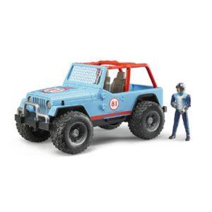 met bestuurddaar Jeep