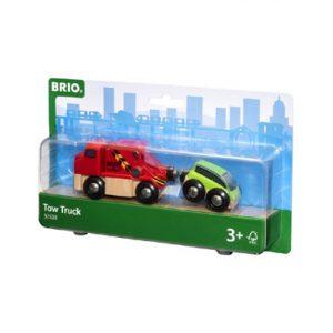 de met auto BRIO sleepwagen