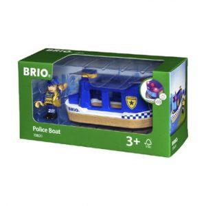 de politieboot in BRIO