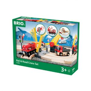 BRIO weg treinset takelkraan