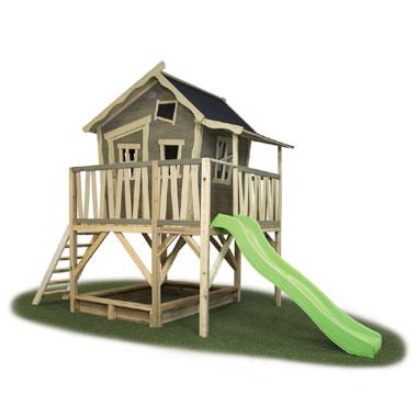 met glijbaan  speelhuis