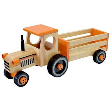 x tractor met Werkvoertuigen