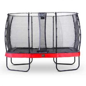 trampoline met x  veiligheidsnet
