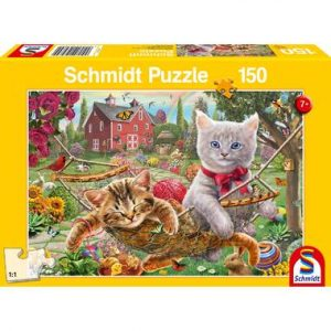 puzzel kittens tuin