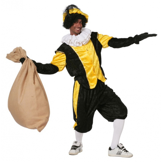 pieten pak zwarte geel